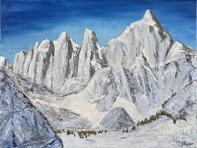 Painting - Mt. Whitney Summit by Jack Hedges