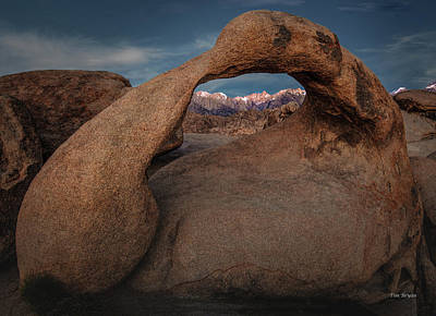 Photograph - Mt. Whitney Through Mobius Arch by Tim Bryan