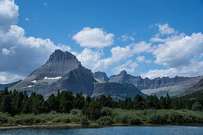 Photograph - Mt Wilbur In Glacier National Park by Mick Anderson