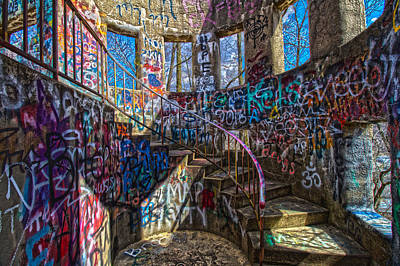 Photograph - Mt Wood Graffiti by Daniel Houghton