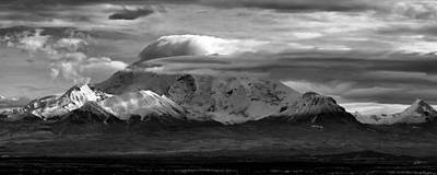 Alaska Mountains Photograph - Mt Wrangell by Ed Boudreau