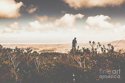 Hiking Wall Art - Photograph - Mt Zeehan Backpacker  by Jorgo Photography - Wall Art Gallery
