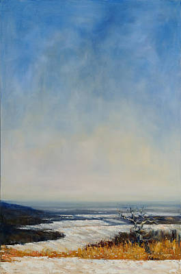 Hudson Valley Painting - Mt Zion In Winter 3 by Robert James Hacunda