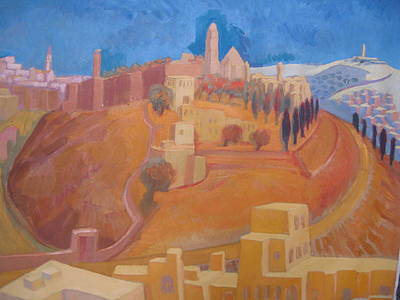 Wall Art - Painting - Mt. Zion With Victoris Augusta by Inge Klimpt