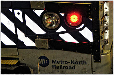 Photograph - Mta Metro-north Railroad Tail Light by Mike Martin