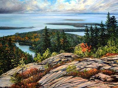 Painting - Mt. Desert Island, Maine by Eileen Patten Oliver
