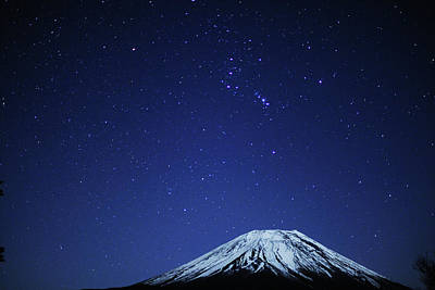 Mountain Photograph - Mt.fuji And Winter Stars by Takeshi.K
