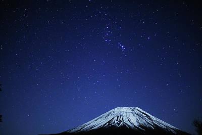 Mt.fuji And Winter Stars Art Print by Takeshi.K