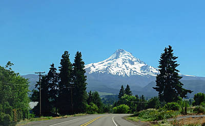 Photograph - Mt. Hood In The Summer by Tikvah's Hope