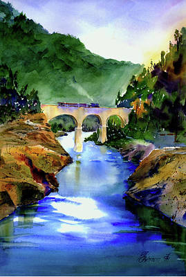 Painting - Mtn Quarries Rr Bridge by Joan Chlarson