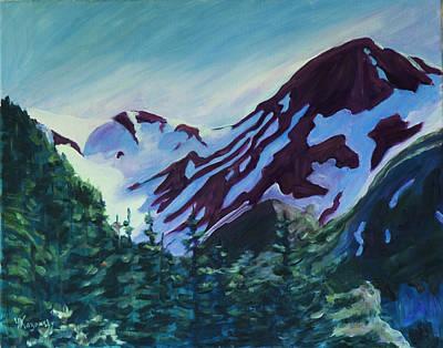 Painting - Mt.roberts Juneau Alaska by Yulia Kazansky