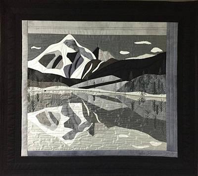 Mt.shuksan In Gray Art Print
