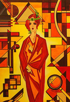 Homework Painting - Art Deco Vogue by Emma Childs