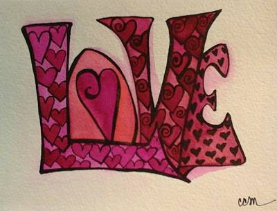 Painting - Much Love by Claudia Cole Meek