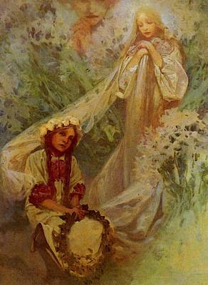 Mucha Alphonse Maria Madonna Of The Lilies Art Print