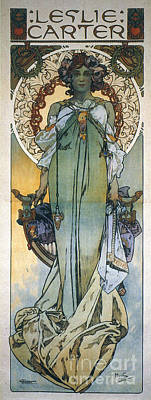 Photograph - Mucha: Theatrical Poster by Granger