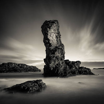 Muchalls Stack Art Print by Dave Bowman