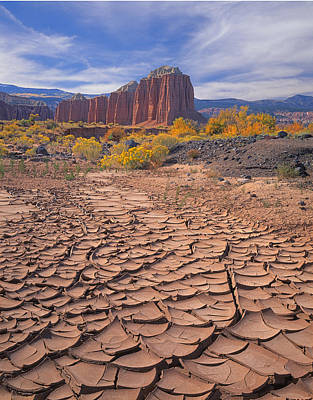 Photograph - 212648-mud Cracks Upper Cathedral Valley  by Ed  Cooper Photography