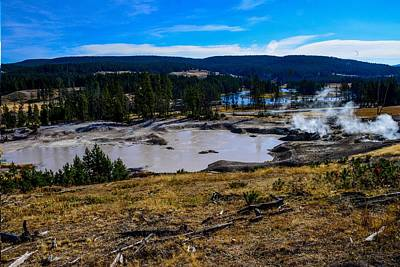 Photograph - Mud Geyser, Yellowstone by Marilyn Burton