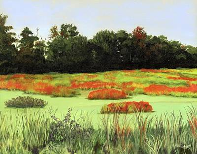 Painting - Mud Lake Marsh by Lynne Reichhart