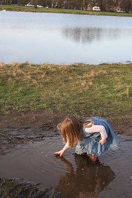 Photograph - Mud Puddles 2 by Aggy Duveen