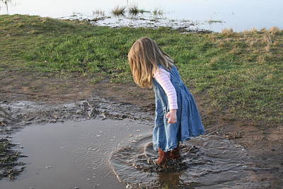 Photograph - Mud Puddles by Aggy Duveen