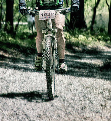 Bicycling Photograph - Mud Racer  by Steven Digman