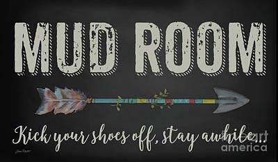 Digital Art - Mud Room-b by Jean Plout