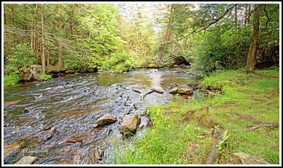 Photograph - Mud Run, Pennsylvania, Pocono Mountain Stream by A Gurmankin