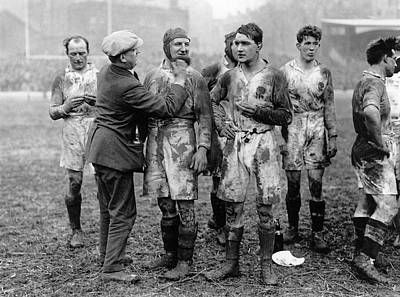 Rugby Photograph - Muddy Players by Hulton Collection