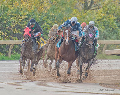 Photograph - Muddy Turn by CR  Courson