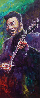 Jazz Legends Wall Art - Painting - Muddy Waters 4 by Yuriy Shevchuk