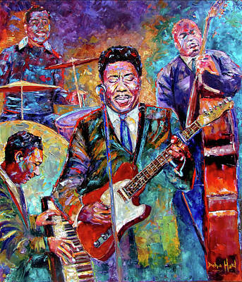 Muddy Waters And His Band Art Print by Debra Hurd
