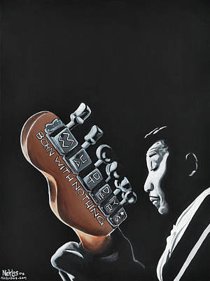 Painting - Muddy Waters - Born With Nothing by Nicklos Richards