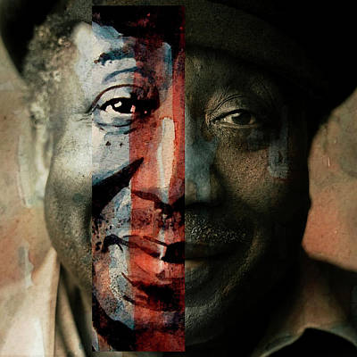 Portrait Mixed Media - Muddy Waters - Mannish Boy  by Paul Lovering