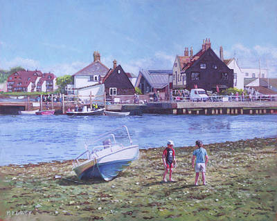 Painting - Mudeford Quay Christchurch From Hengistbury Head by Martin Davey
