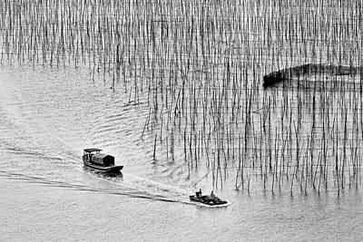 Photograph - Mudflats Of Xiapu, Study #1 by Yancho Sabev