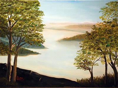 Smokey Mountains Painting - Mudfork by Phil Burton