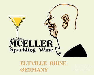 Sparkling Wines Drawing - Mueller Sparkling Wine by Aapshop