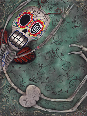 Folk Art Angel Painting - Muerte Fairy by  Abril Andrade Griffith