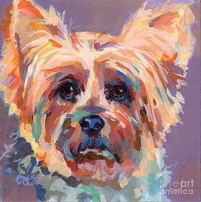 Yorkshire Terrier Wall Art - Painting - Muffin by Kimberly Santini