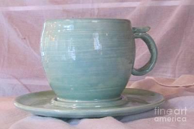 Ceramic Art - Mug And Saucer by Lisa Dunn