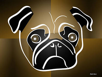 Puppy Digital Art - Mug Of A Pug by Stephen Younts