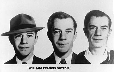 Bsloc Photograph - Mug Shots Of Willie Sutton 1901-1980 by Everett