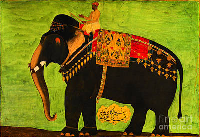 Painting - Mughal Empire Persian Elephant by Bichtar