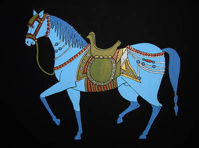 Mughal Horse Art Print by Stephanie Moore