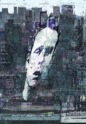 Human Head Mixed Media - Mugshot 2 by Andy  Mercer