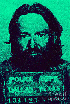 Mugshot Willie Nelson P28 Art Print by Wingsdomain Art and Photography