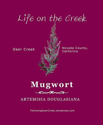 Digital Art - Mugwort - White Text by Lisa Redfern