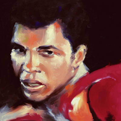 Boxer Painting - Muhammad Ali 551 3 by Mawra Tahreem